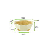 Round Baking Mold With Liner - L:3.05 x W:2.7 x H:1.25in