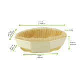 Round Baking Mold With Liner - L:4.6 x W:4.55 x H:1.4in