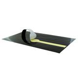 Black Self-Adhering Paper Wrapper - L:12.15 x W:7.1in