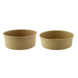 Round Kraft To Go Container -20oz Dia:5.7in H:2in