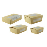 Kraft Laminated Window Box - L:7.5 x W:4.5 x H:1.75in