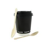 Elegant Wooden Coffee Spoon - L: 4.7in