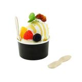 Wooden Ice Cream Spoon - L: 3in
