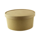 Vented Paper Lid for 210PC1550K & 210PCPLA1500 - Dia:7.3in H:0.7in