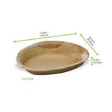 Egg Shaped Palm Leaf Plate -1.6oz L:3.55 x W:2.35 x H:.65in