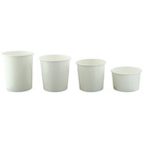 White Soup Cup (Lid Optional) -8oz Dia:3.5in H:2.2in