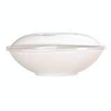 Bio N Chic Oval White Sugarcane Bowl -51oz L:10.6 x W:6.5 x H:3.15in
