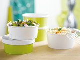 Buckaty Round Green To Go Container -20oz Dia:5.8in H:1.97in