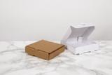 Mini Cardboard Pizza Box - L:3.5 x W:3.4 x H:1in