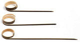 Joyo Rond Black Bamboo Skewer With Side Twist - L:7.15in