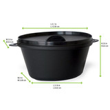 Small Black Casserole Dish With Lid -12oz L:5.1 x W:3.9 x H:2.6in