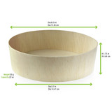 Round Wooden Bowl -24oz Dia:5.9in H:1.77in