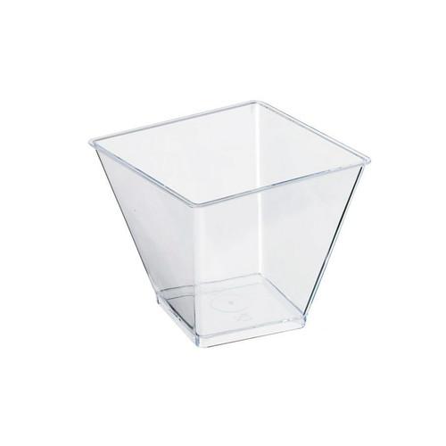 Zeno Clear Square Cup -3.3oz L:2.48 x W:2.48 x H:2.15in