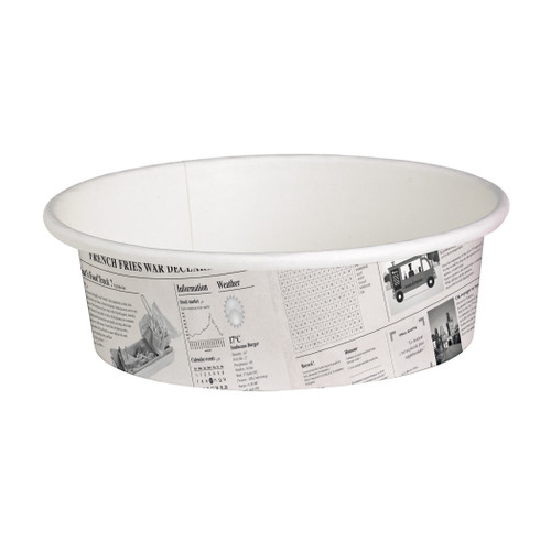 Deli News Printed Containers -12oz Dia:4.4in H:2in