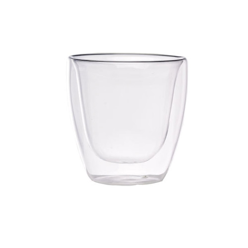 Double Wall Short Mini Glass -2.5oz Dia:1.5in H:2.75in