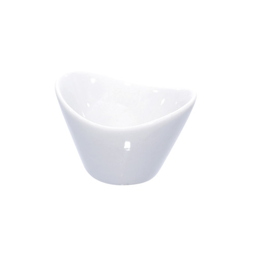 Egg Mini Porcelain Bowl -1oz L:2.7 x W:2.15 x H:1.75in