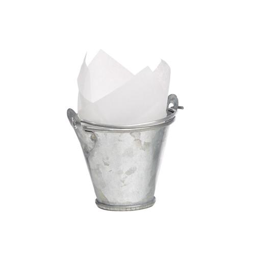Mini Metal Bucket -1oz Dia:2in H:1.56in