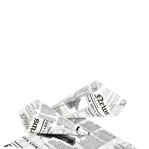 Greaseproof Paper Cones Newspaper Printed -50oz L:11.8 in.
