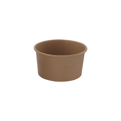 Brown Kraft Hot & Cold Paper Cup -9oz Dia:3.75in H:2.08in