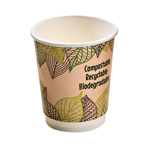 Double Wall Compostable Paper Cup -12oz Dia:3.5in H:4.25in