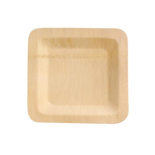 Bamboo Veneer Square Plate - L:10 x W:10 x H:.55in