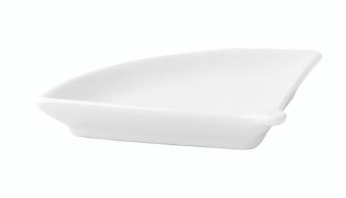 Mini White Fan Shaped Dish - 3.9 x 3.1 x 0.6in