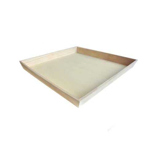 NOAH3939 Heavy Duty Wooden Tray - L:15.8 x W:15.8in H:1.5in