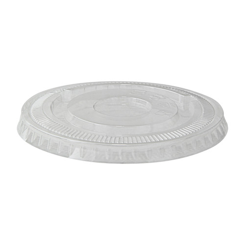 Clear PET Flat Lid for 210POC270N - Dia:3.8in H:0.39in