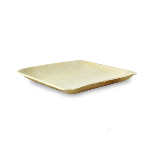 Square Palm Leaf Plate With Rounded Corners - L:7.95 x W:7.95 x H:.5in