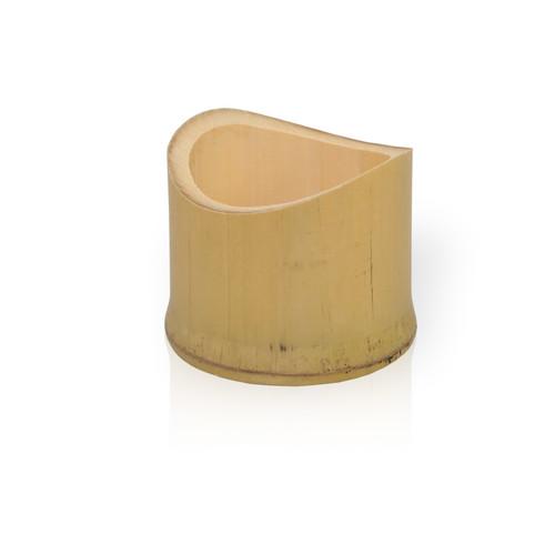 Tamago Oblique Bamboo Cut Tube -1.5oz Dia:2.2in H:1.38in