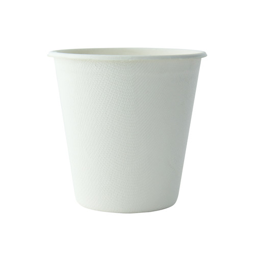 White Sugarcane Cup -12oz Dia:3.63in H:3.6in