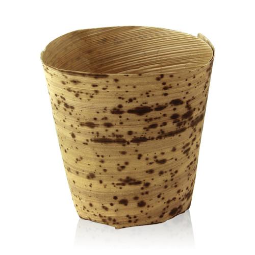 Bamboo Leaf Cup -4oz Dia:2.35in H:2.5in