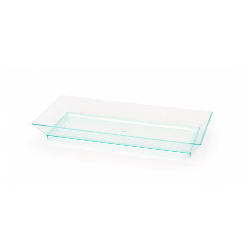 Klarity Rectangular Transparent Green Dish - L:5.1 x W:2.5 x H:.61in