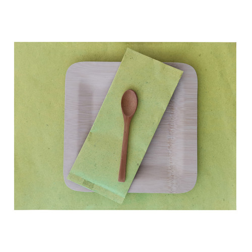 Green Paper Place Mat - L:15.7 x W:11.75in