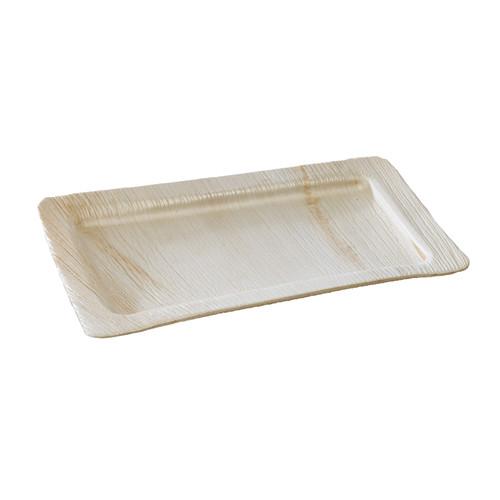 Rectangular Palm Leaf Plate - L:10 x W:6.1 x H:1in