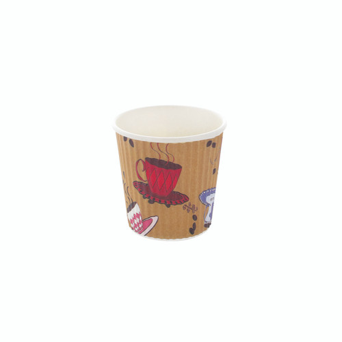 Rippled Teacup Design Cup -4oz