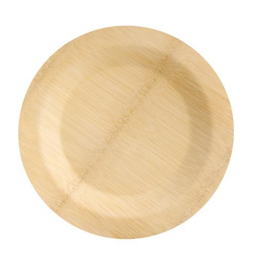 Bamboo Veneer Round Plate - Dia:11in H:.55in