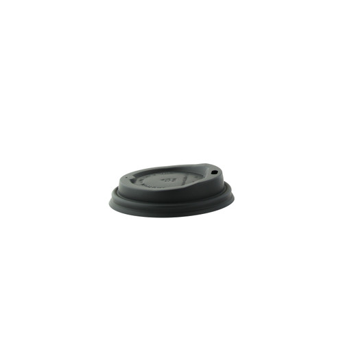 Compostable black coffee lid for 8oz - Dia:3.2in H:.7in