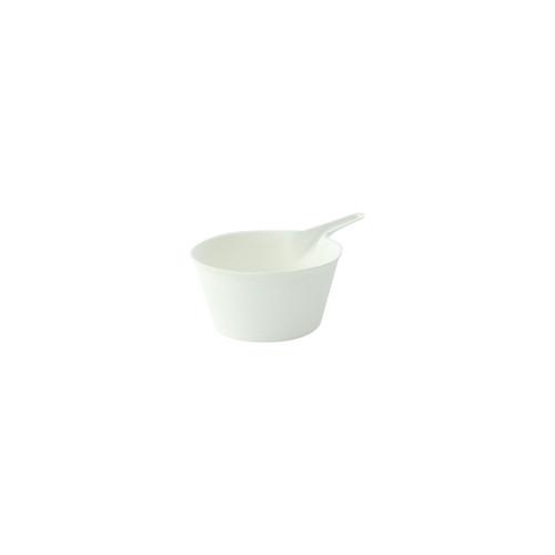 Bio N Chic Deep Pan White Sugarcane Dish - Dia:2.2in H:1.15in