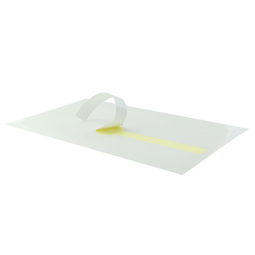 White Self-Adhering Paper Wrapper - L:12.15 x W:7.1in