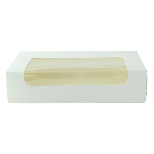 White Laminated Window Box - L:7.5 x W:4.5 x H:1.75in