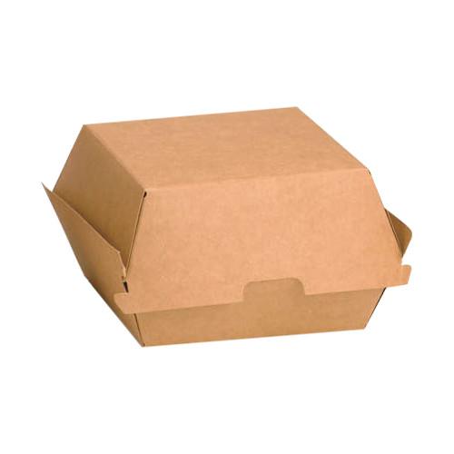 Kraft mini burger box - H: 3.15 W: 3.9 L: 4.3 - 300pcs