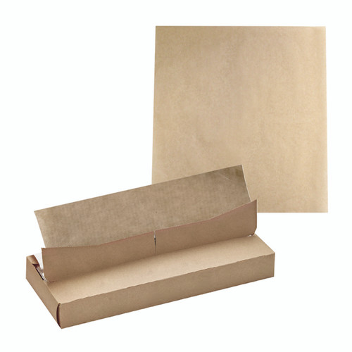 Greaseproof Brown Sheets In Dispenser Box - L:13.75 x W:10.6in