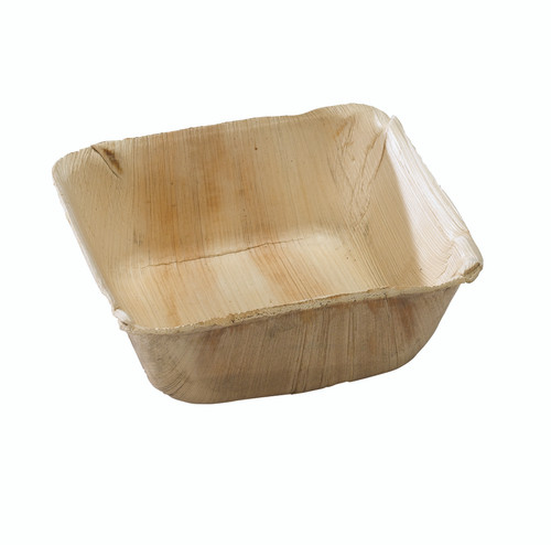 Square Palm Leaf Bowl -16oz Top:L:5.1 x W:5.1 x H:2in