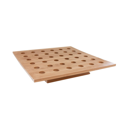 36 Holes Bamboo Cone And Temaki Display - L:15.7 x W:15.7 x H:3 in