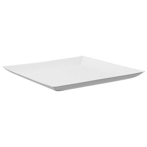 Bio N Chic White Sugarcane Plate - L:7.05 x W:7.05 x H:.6in