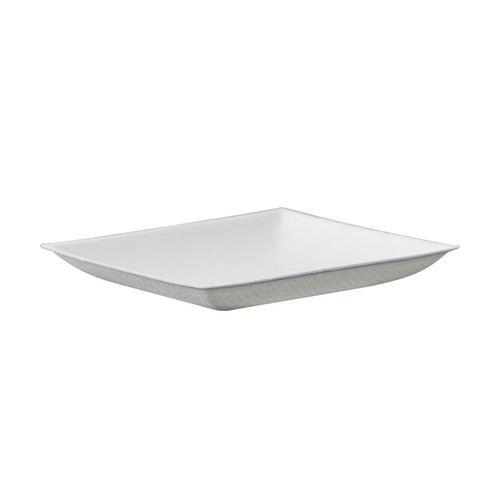 Bionchic Mini White Sugarcane Plate - L:3.5 x W:3.5 x H:.45in