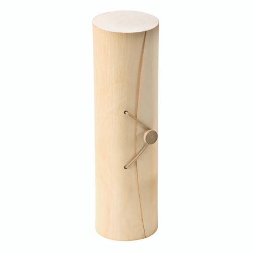 Cylindrical Wooden Box For 7 Macarons With Latch - Dia:2.6in L:9in