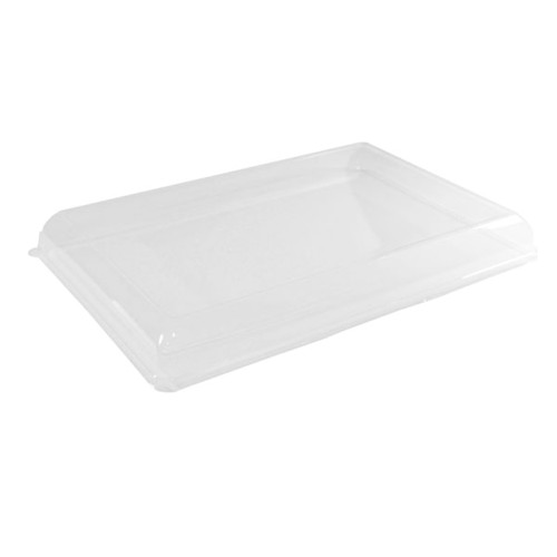 Clear PET Lid for 210ECOD4029 - L:15.75 x W:10.9 x H:1.75in