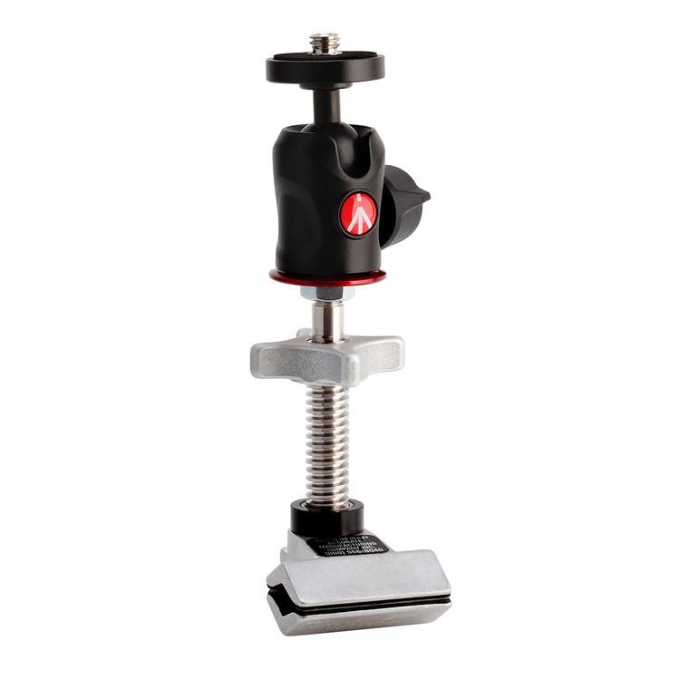 Manfrotto 492 Micro Ball Head on Cardellini Mini Mic Clamp (MCBH2)